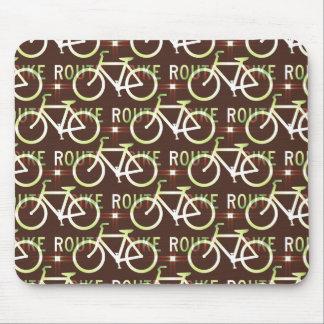 Fun Bike Route Fixie Bike Cyclist Pattern Mouse Pad