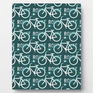 Fun Bike Route Fixie Bike Cyclist Pattern Plaque