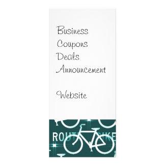 Fun Bike Route Fixie Bike Cyclist Pattern Rack Card