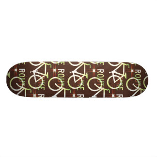 Fun Bike Route Fixie Bike Cyclist Pattern Skate Board Decks