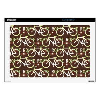 Fun Bike Route Fixie Bike Cyclist Pattern Laptop Skin