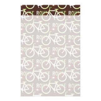 Fun Bike Route Fixie Bike Cyclist Pattern Stationery