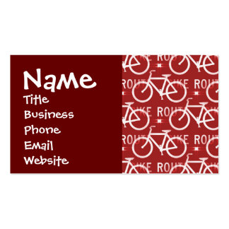 Fun Bike Route Fixie Vintage Bicycle Cyclist Double-Sided Standard Business Cards (Pack Of 100)