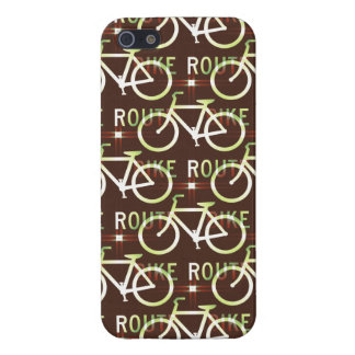 Fun Bike Route Fixie Vintage Bicycle Cyclist iPhone SE/5/5s Case