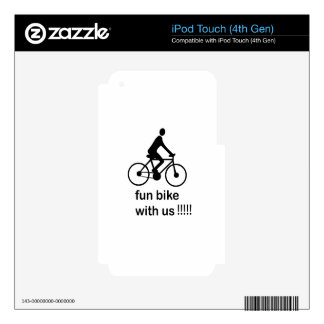 Fun Bike With you iPod Touch 4G Skins