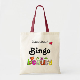 Fun Bingo Personalize Name Bingo Player Bag
