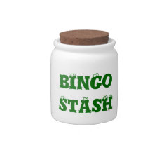 Fun Bingo Players Money Spare Change Bank Candy Jar at Zazzle