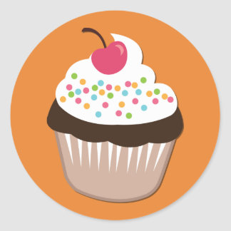Fun Birght Cupcake Sticker