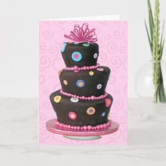 fun birthday cake card by photoinspiration begin sellin