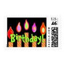 Fun Birthday Gold Candles stamp