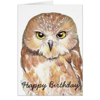Fun Birthday Humor Owl Bird Nature Wildlife Greeting Cards