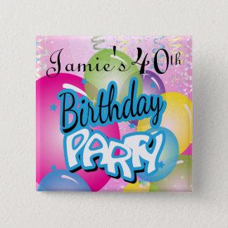 Fun Birthday Party | DIY Name & Age Button