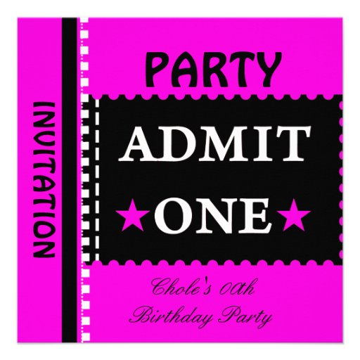 Fun Birthday Party Girls Teen Tweens Hot Pink Invitation