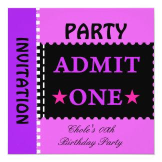Fun Birthday Party Girls Teen Tweens Purple Card