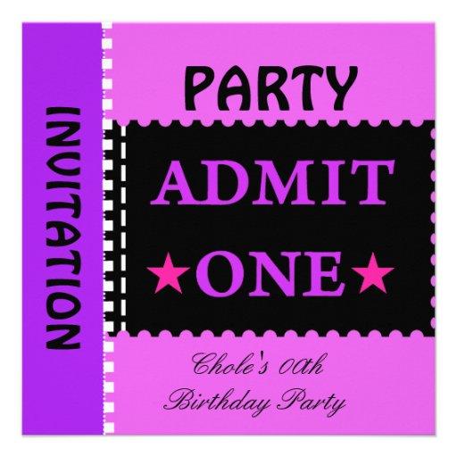 Fun Birthday Party Girls Teen Tweens Purple Invitation