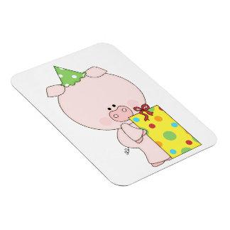 Fun Birthday Pig Vinyl Magnets