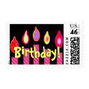 Fun Birthday Pink Candles stamp