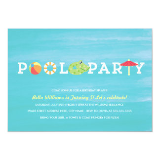 Fun Birthday Pool Party Invitation