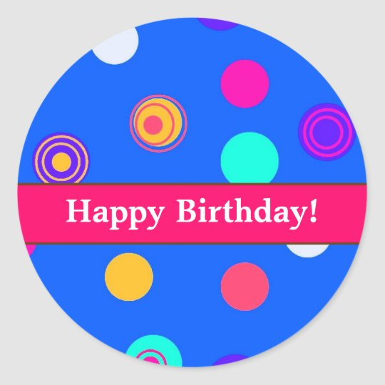 Fun Birthday Stickers for Sealing Invitations