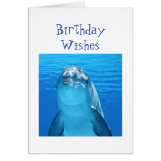 Fun Birthday Wishes Porpoise or Dolphin Card