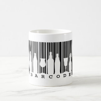 Fun black and white bar code (barcode), classic white coffee mug