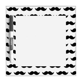 Fun Black and White Mustache Pattern 1 Dry-Erase Board