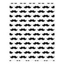 Fun Black and White Mustache Pattern 1 Flyer