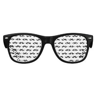 Fun Black and White Mustache Pattern 1 Kids Sunglasses