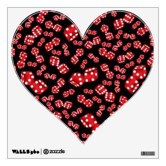 Fun black dice pattern wall decor