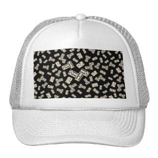 Fun black domino pattern hats