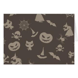 Fun Black & Grey Halloween Design Card