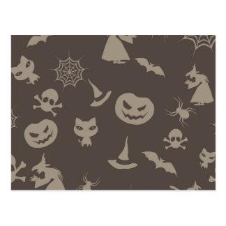 Fun Black & Grey Halloween Design Postcard