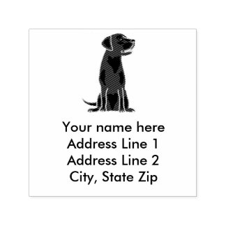 Fun Black Labrador Retriever Address Stamp