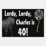 Fun Black Over The Hill Birthday Yard Sign