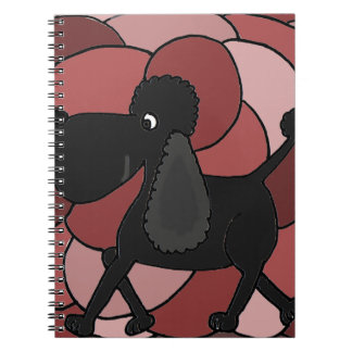 Fun Black Poodle Abstract Notebook