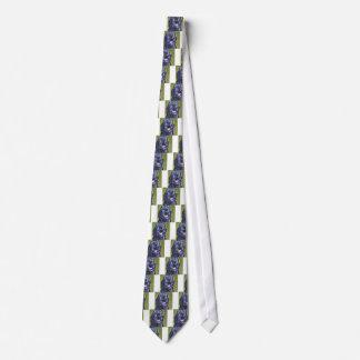 fun black schnoodle labradoodle fun pop art neck tie