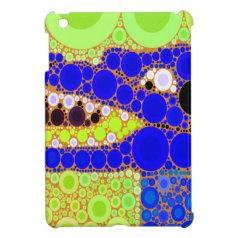 Fun Blue Alligator Crocodile Retro Circles Mosaic iPad Mini Covers