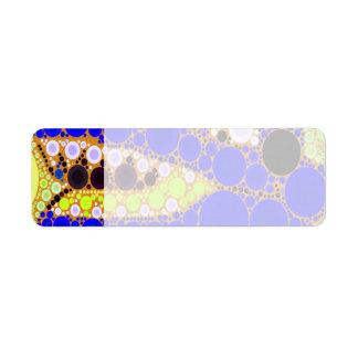 Fun Blue Alligator Crocodile Retro Circles Mosaic Label