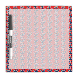 Fun Blue Anchors on Red Dry Erase Board