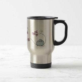 Fun blue bird travel mug