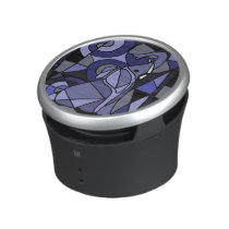 Fun Blue Elephant Abstract Art Bluetooth Speaker
