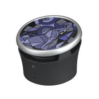 Fun Blue Elephant Abstract Art Bluetooth Speaker