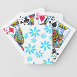 Fun Blue Floral Bicycle Playing Cards
