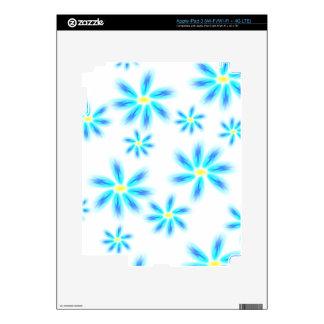 Fun Blue Floral iPad 3 Decals