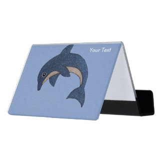Cute dolphin business card holders cases zazzle for Cute business card holders for desk