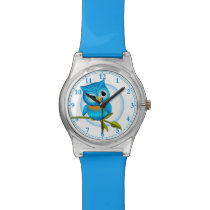 Fun Blue Owl Wrist Watch #Watches #Accessories