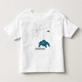 Fun blue spider and fly kids t-shirt
