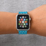 "Fun blue white nurse pattern apple watch band<br><div class=""desc"">design by www.etsy.com/Shop/DoodlesFirst</div>"