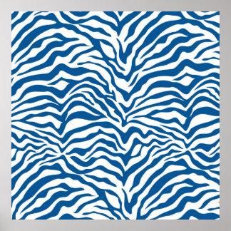 Fun Blue Zebra Stripes Wild Animal Print