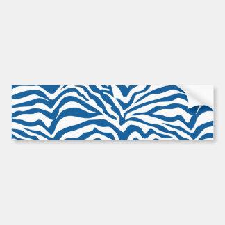 Fun Blue Zebra Stripes Wild Animal Print Bumper Sticker